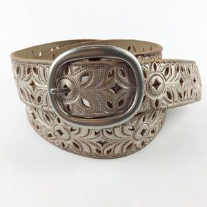 Fossil Floral Perforated Belt l Size Medium